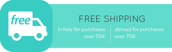 Free shipping in Italy for purchases over 50 €