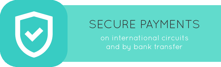 Secure payments on international circuits and by bank transfer